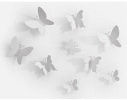 umbra Dekoracja Ścienna Mariposa (9/Set) biała - 470130-660