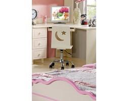 Krzesło obrotowe dziecięce kolor biały, fioletowy, różowy