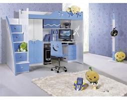 Łóżko piętrowe MARCO POLO kolor niebieski