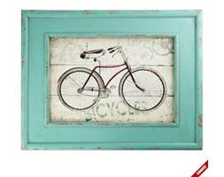 Obraz z rowerem w ramce - BICYCLES - różowy