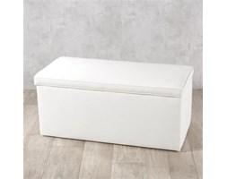 Dekoria Skrzynia tapicerowana, kremowa biel (eko-skóra), 120x40x40 cm, Eco-leather