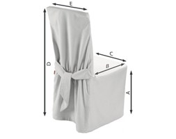 Dekoria Sukienka na krzesło, biel, 45x94 cm, Jupiter