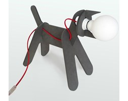 GET OUT- Lampa stojąca Czarny Pies