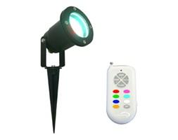 FOCUS - Zewnętrzny reflektor wbijany RGB