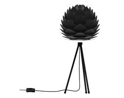SILVIA - Lampa stojąca abażur Czarny Ø34cm Statyw Czarny 37cm