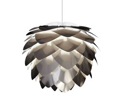 SILVIA - Lampa wisząca Srebrny Ø34m + Kabel biały 2,1cm