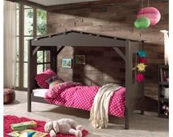Łóżko drewniane dla dziecka pojedyncze Pino - sosnowy domek