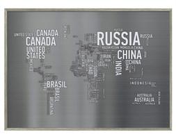 Obraz Mapa Świata i Napisy
