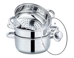 Zestaw garnków 4 el. do gotowania na parze, nierdzewny, indukcja.
