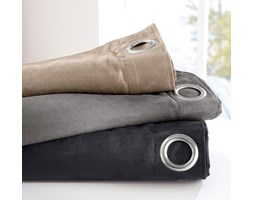 Zasona z tkaniny imitujcej zamsz, jednobarwna