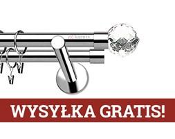 Karnisz nowoczesny NEO podwójny 19/19mm Beluna Crystal INOX