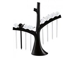 Zestaw koreczków na drzewku czarno-biały Pi:p