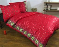 Pościel satynowa Taylor red 100% bawełny (140x200)