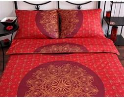 Pościel satynowa Noble Coronet Red 100% bawełny (160x200)
