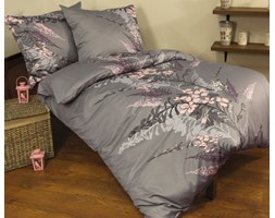 Pościel satynowa Tiffany grey 100% bawełny
