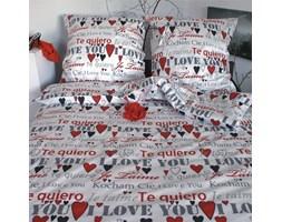 Pościel satynowa Love Story White 100% bawełny (160x200)