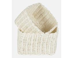 Koszyki Kwadratowe Białe Komplet (2sz) Ib Laursen 1792-11