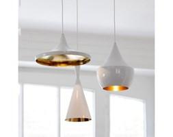 DOSTĘPNA OD RĘKI!!! KALMAR T lampa wisząca biała ze złotym środkiem - Wejdź do sklepu, otrzymasz atrakcyjny rabat dodając lampę do koszyka !!!