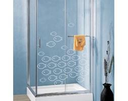 Naklejka Ławica ryb, efekt piaskowanego szkła