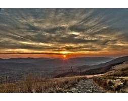 Obraz na płótnie OKR190_11 - Przepiękne słońce nad Bieszczadami