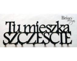 Wieszak - Briso Design - Tu mieszka szczęście XXL