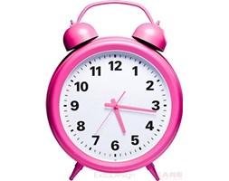 Zegar stołowy Table Clock Pink Time, rózowy