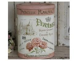 Duży Kosz Metalowy Provence Chic