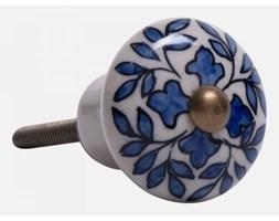 Gałka Z Niebieskim Wzorem W Kształcie Liści Ib Laursen 0558-13