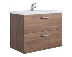 Czerwone Meble łazienkowe drewniane – modne wyposażenie wnętrz na Homebook.pl