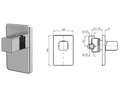 Zucchetti Faraway bateria natryskowa element zewnętrzny ZFA624