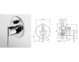 Zucchetti Spin bateria natryskowa element zewnętrzny ZX311