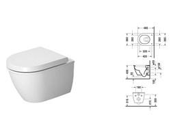 Duravit Darling New muszla wc podwieszana compact 2549090000