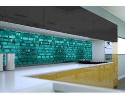 Panel szklany do kuchni TURKUSOWA CEGŁA