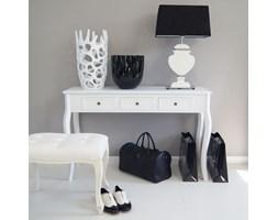 Konsola z serii Meridian, trzy szuflady, gięte nogi, biała
