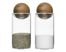 Komplet 2 pojemników szklanych do soli i pieprzu SAGAFORM OVAL OAK - rabat 10 zł na pierwsze zakupy!