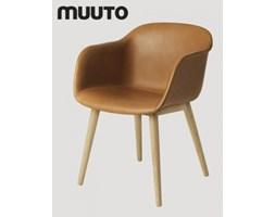 Muuto Fiber Chair Wood Skóra | design-spichlerz.pl
