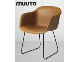 Muuto Fiber Chair Sled Skóra | design-spichlerz.pl