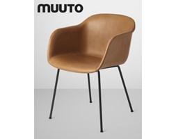 Muuto Fiber Chair Tube Skóra | design-spichlerz.pl