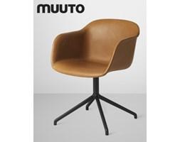 Muuto Fiber Chair Swivel Skóra | design-spichlerz.pl