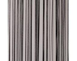 Zasłona sznurkowa prosta czarna - 90 x 240 cm