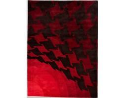 Dywan Carpetforyou Handtufted geometryczny czerwony wełna 1,70x2,40