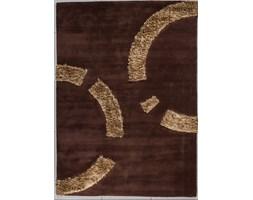 Dywan Carpetforyou Handtufted geometryczny brąz wełna 1,70x2,40