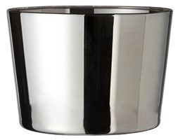 BBW Silver 15x16cm plant pot