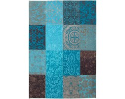 Dywan naturalny vintage patchowork 8105 Turquoise - turkusowo brązowy 60x90 cm