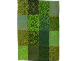 Dywan naturalny vintage patchwork 8106 SpringLeaves - zielony 230x230 cm