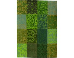 Dywan naturalny vintage patchwork 8106 SpringLeaves - zielony 60x90 cm