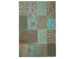 Dywan naturalny vintage patchwork 8006 SeaBlue - zielono beżowy 60x90 cm