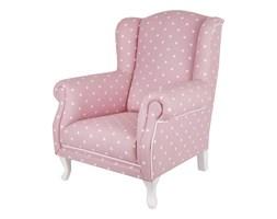 Fotelik mini różowy w groszki