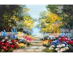 Obraz na płótnie OML315_11 - Kwietne schodki I