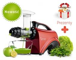 Wyciskarka soku z owoców i warzyw Sana EUJ-606 (czerwona) firmy Omega + PREZENT (DOSTAWA GRATIS)